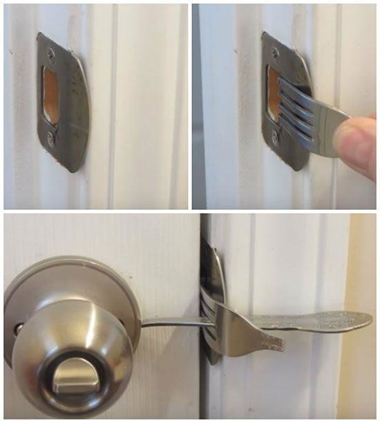 Make Your Home More Secure With A Fork Lock Diy Security Diy Lock Diy Home Security