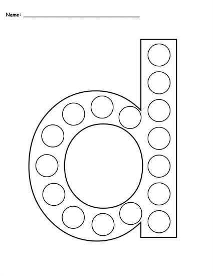 free letter d do a dot printables uppercase lowercase toddler preschool motor skills and. Black Bedroom Furniture Sets. Home Design Ideas