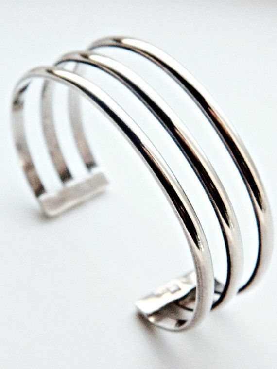Sterling Silver Taxco Cuff Bracelet / Vintage Mexico