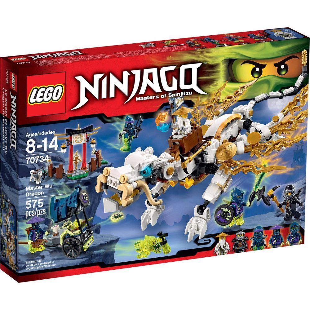 LEGO NINJAGO MASTER WU DRAGON Masters of Spinjitzu 70734 NEW Sealed #LEGO   Ninjago  lego sets, Lego ninjago, Ninjago