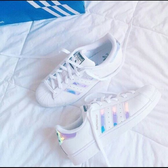 adidas originals superstar holographic white trainers buy clothes ...