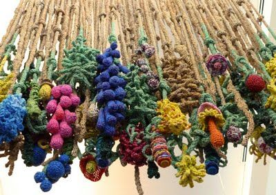 by Barbara De Pirro - believe it or not she makes these by crocheting plastic bags.... seriously!