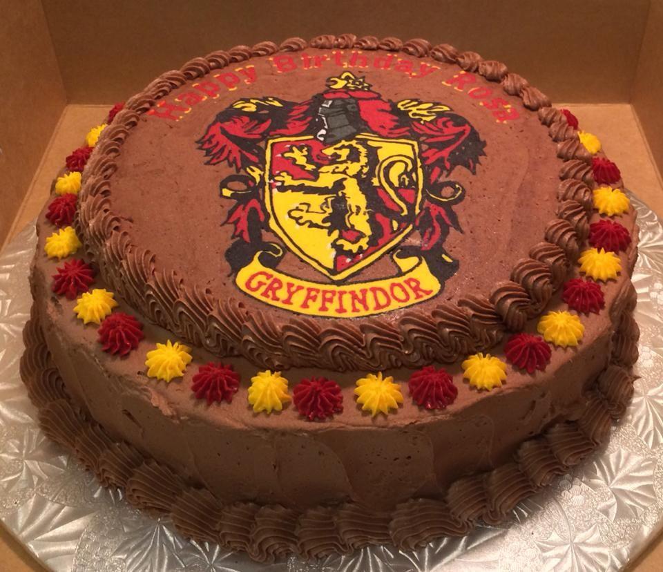 Harry Potter Gryffindor Frozen Buttercream Transfer Design By Janice Pullicino Fbct