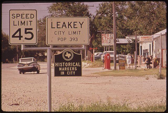Leakey, Texas, a small town near Garner State Park ...