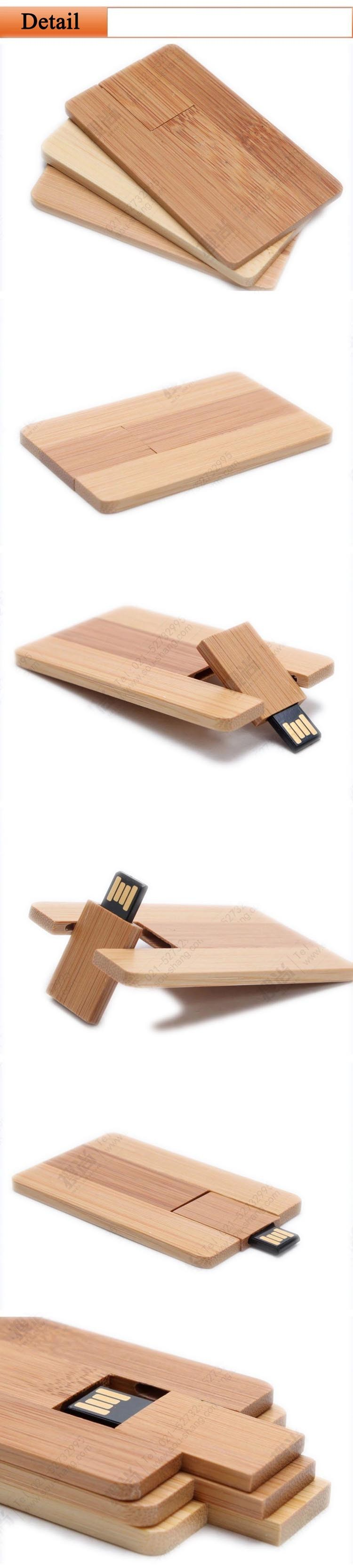 Custom Logo Pendrive Credit Card Usb Flash Drive Wood Pen ...