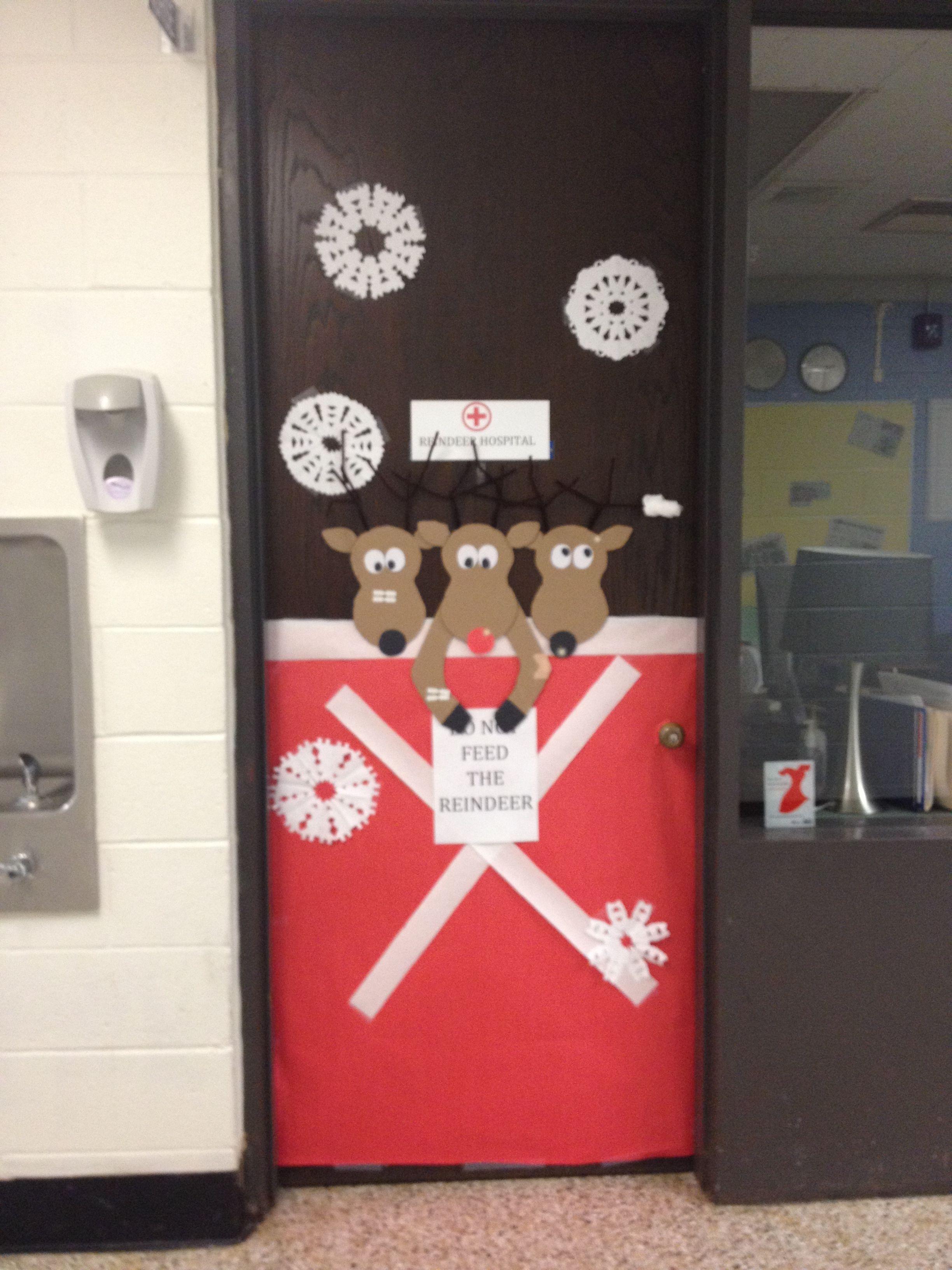 Nurses Office Holiday Decorations Reindeer Hospital