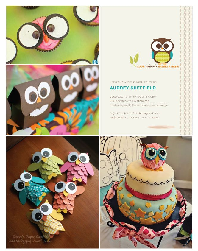 cute pink owl cupcakes and many more party themes