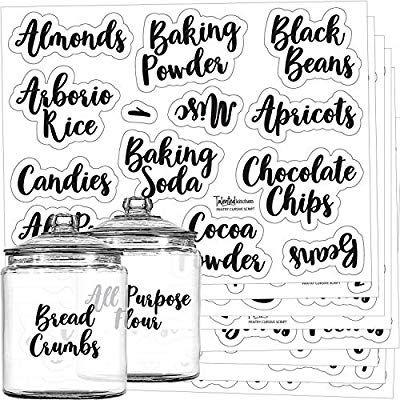 Amazon Com Mega Set 110 Pantry Labels Preprinted Kitchen Labels