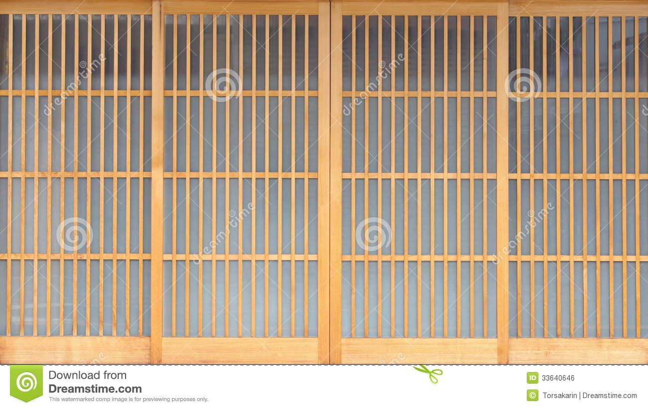 Anese Rice Paper Walls Textures Sliding Door Royalty Free Stock Image 33640646