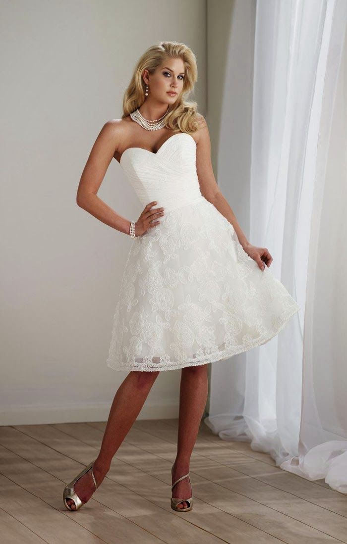 Short lace country wedding dress | Wedding ideas | Pinterest ...