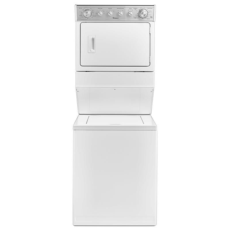 """Whirlpool Apartment Size Washer And Dryer: Whirlpool WET4027EW 27"""" Full-Size Electric Stacked Laundry"""