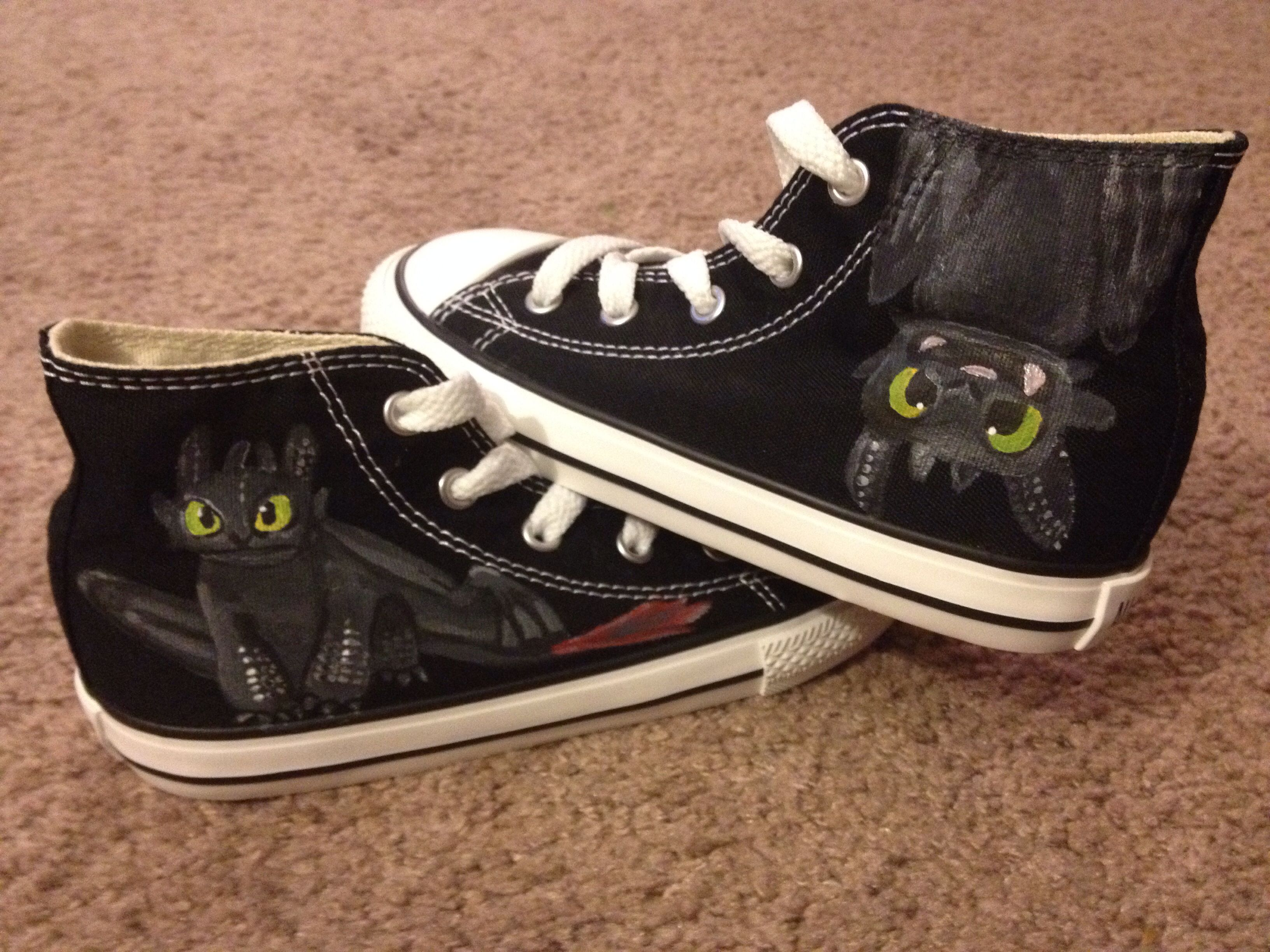 22f40ff53 DIY toothless shoes I painted for my nephew :) | DIY | Painted shoes ...