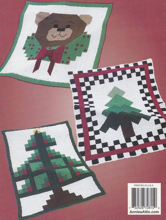 Granny Square Christmas Afghans, Annie's Attic Crochet ...