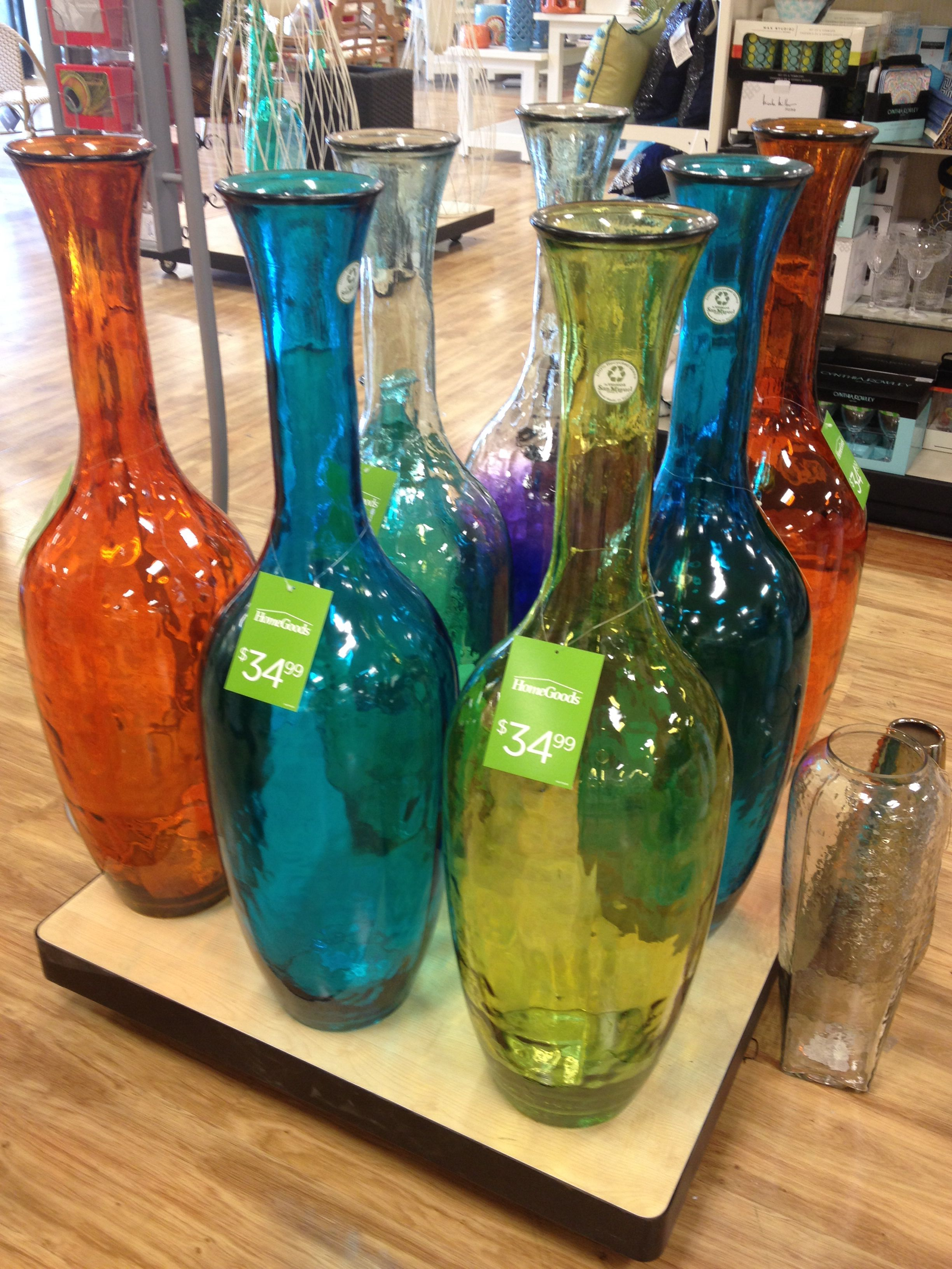 Home Vases Huge Colorful Glass Floor Vases At Home Goods Home