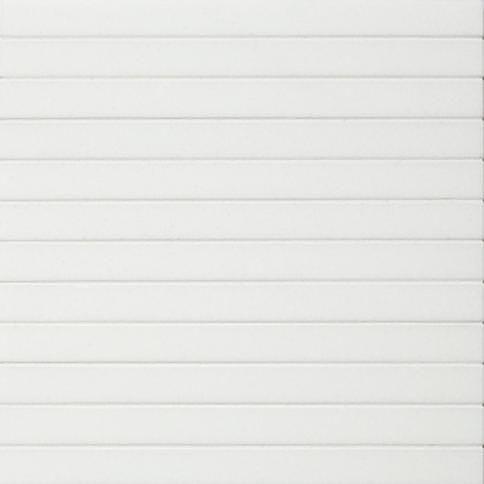 shower walls - white 1x12 stack mosaic   nemo - re
