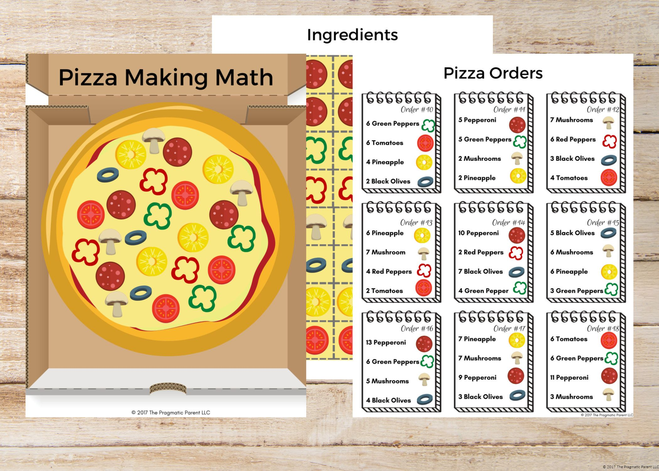 Pizza Making Math Learning To Count Kindergarten Worksheet