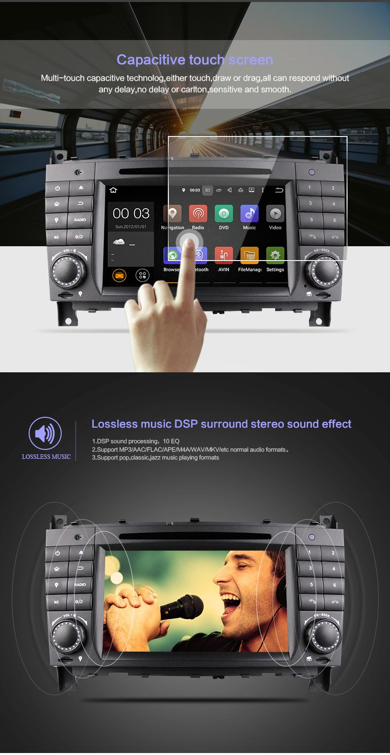 Pin by LVYIAUTO on DU7069----The Newest 7'' Car DVD Player for Benz