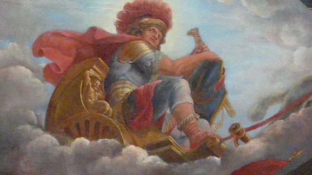 painting of Mars, god of war, at Chateau de Versailles by ...