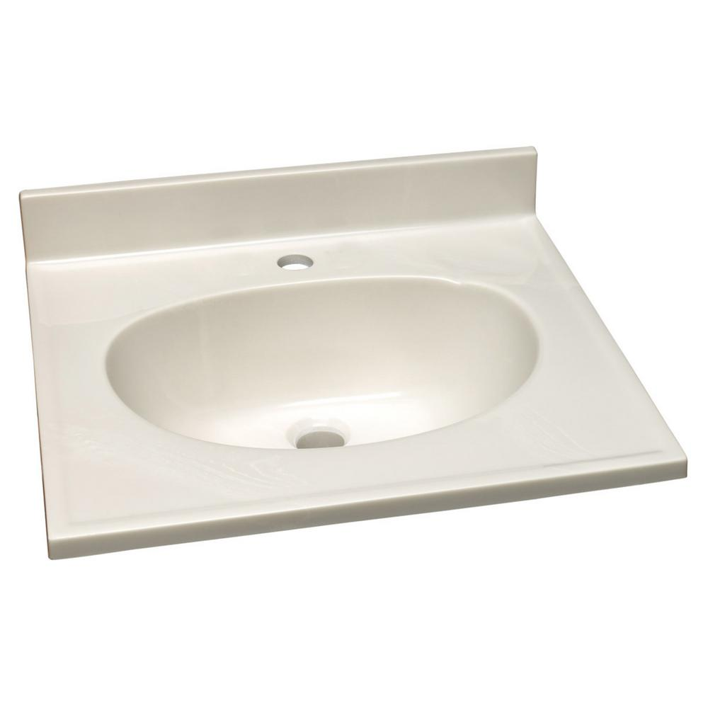 Design House 25 In Single Faucet Hole Cultured Marble Vanity Top