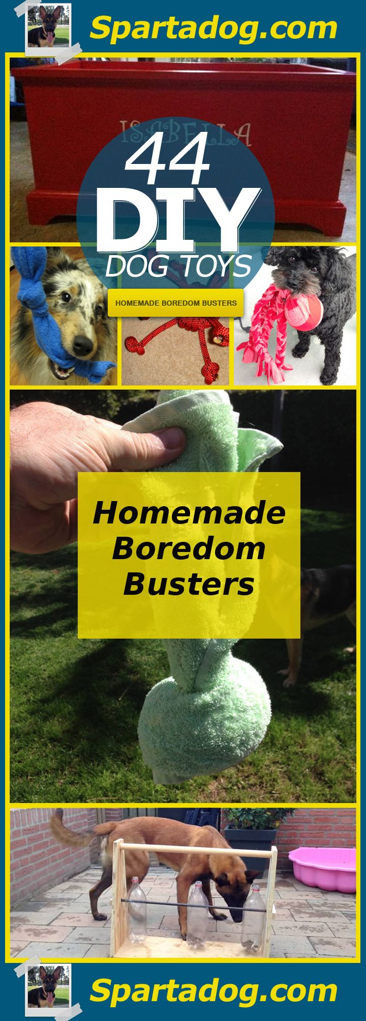 44 Really Cool Homemade Diy Dog Toys Your Dog Will Love Homemade