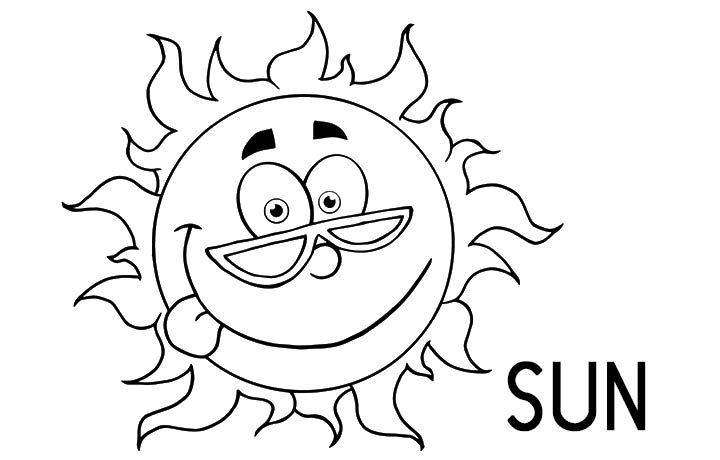 Sun Happyface Coloring Pages
