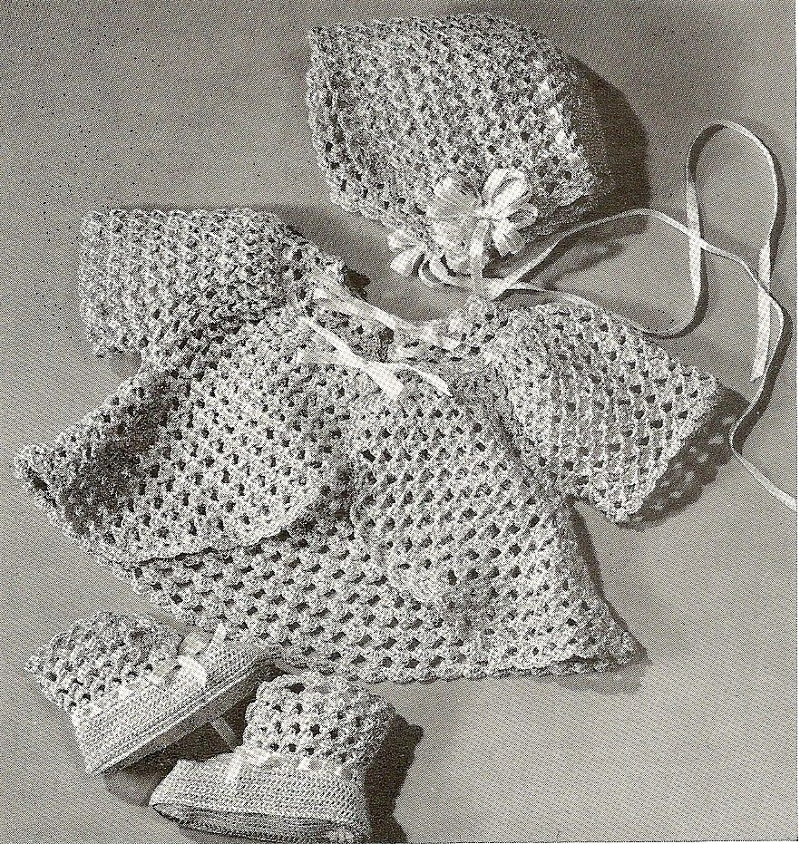free Vintage Crochet Baby Layette Set | CROCHET BABY SET PATTERN ...