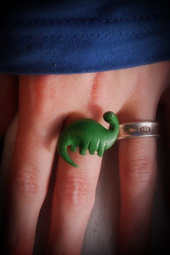 Dinosaur Ring I Made 10 00 Ring Dinosaur Jewelry Rawr