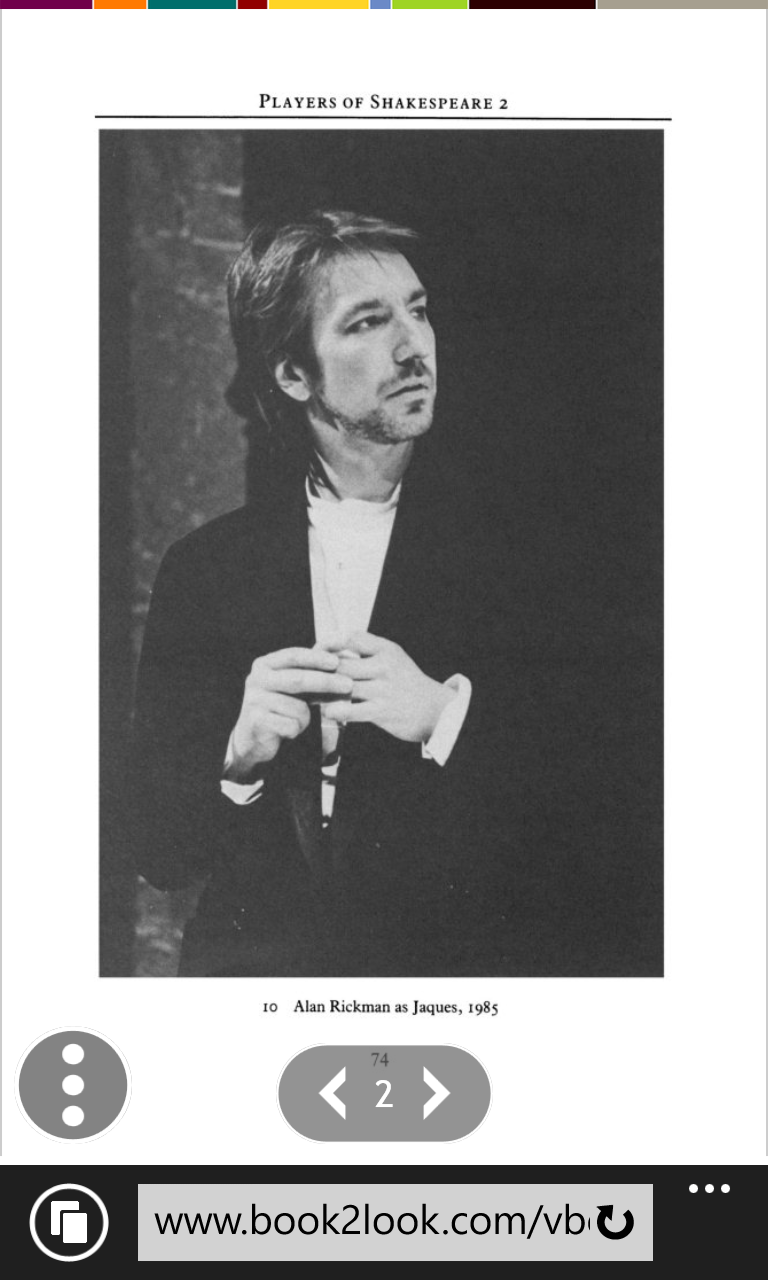 Article Page 2 Alan Rickman About Shakespeare S Play As You