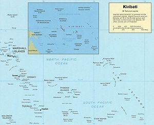 Kiribati Wikipedia the free encyclopedia Oceania Map Pinterest