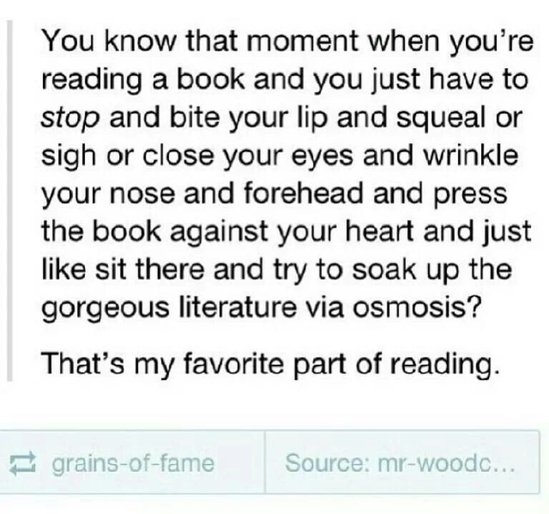 Feel that all the time with my favorite books
