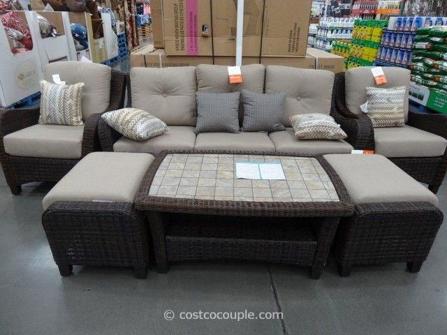 Costco (locally Available) Agio International 6 Piece Fairview Seating  All Weather Wicker ·
