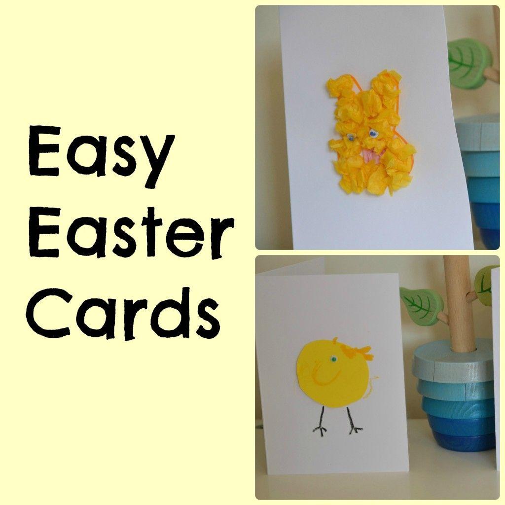 Easy Easter Cards For Kids Easter Easter Pinterest Easter