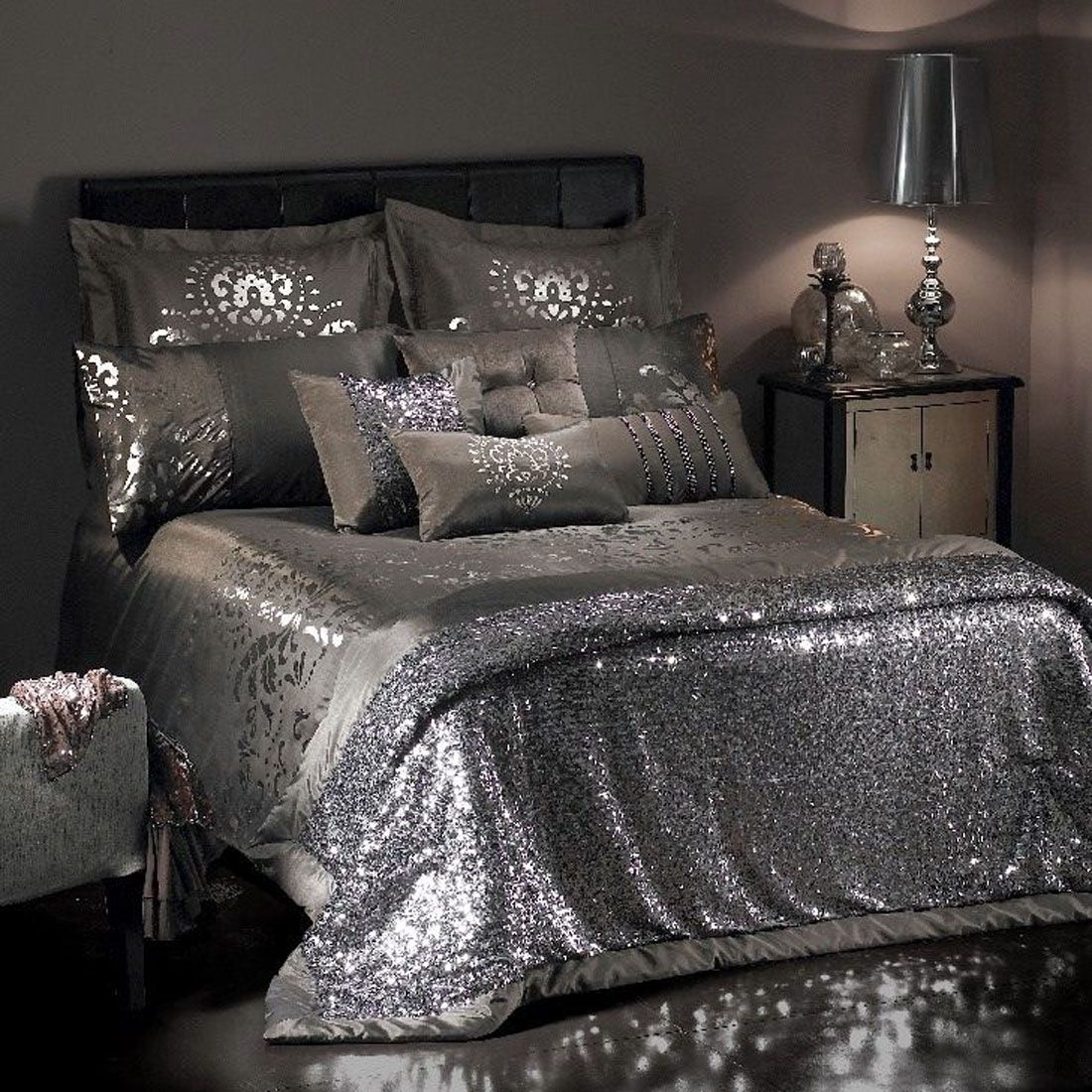 Mercury Glass Bling Cherie Silver Bedroom Luxury