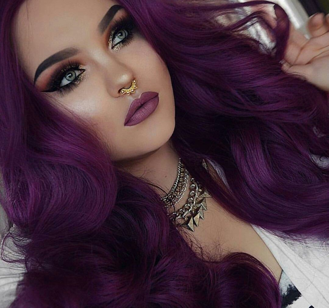 Eye shadow color | Make up | Hair, Purple Hair, Dark ...