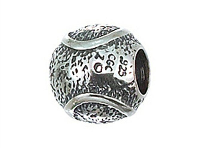 Zable Sterling Silver Murano Glass-Gold//Brown Bead//Charm