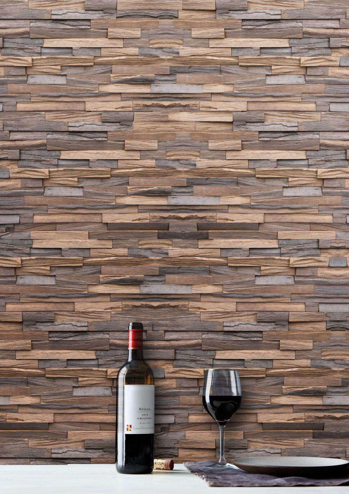 Heartwood Timber Wall Cladding Tiles Slips