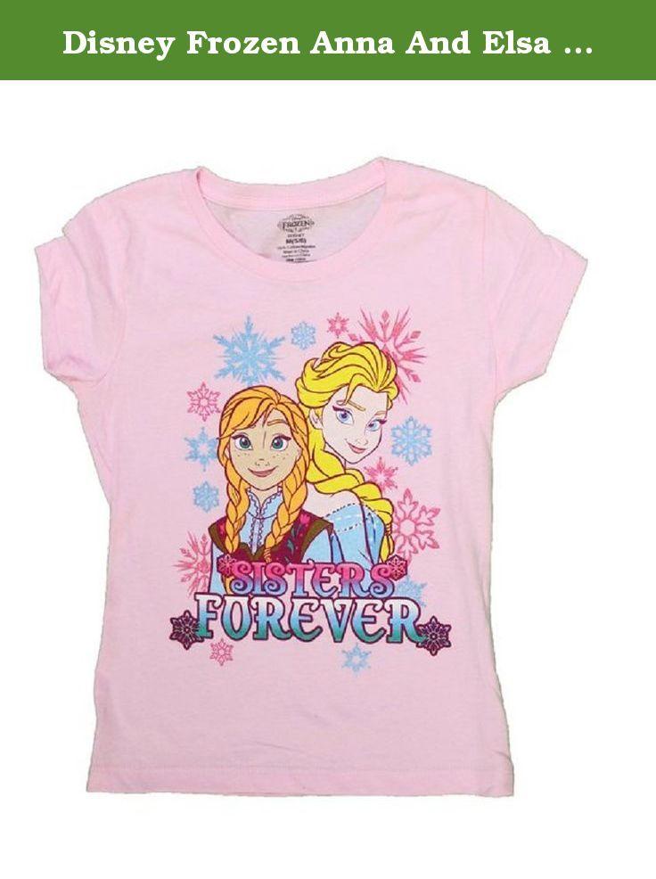 1b30eca35 Disney Frozen Anna And Elsa Sisters Forever Short Sleeve Pink T Shirt Tee  (4/5). Disney Frozen SISTERS FOREVER shirt 100 percent cotton.