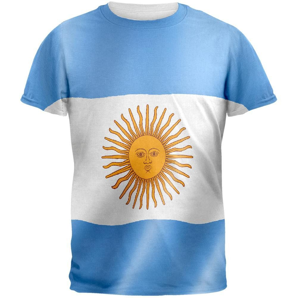 World Cup Argentina Flag All Over Adult T Shirt Products Fashion Big Size 2xl