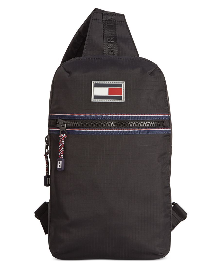 7fc7b325ae4a Tommy Hilfiger Ripstop Nylon Sling Bag & Reviews - All Accessories - Men -  Macy's