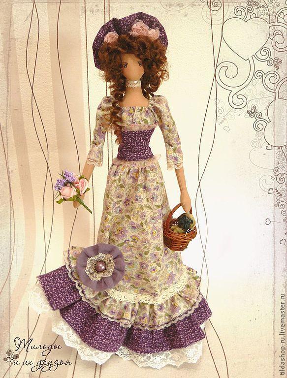 Купить Текстильная кукла Элизабетт - коллекционная кукла, текстильная кукла, тряпиенса, кукла тряпиенса, барышня ♡