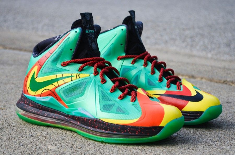 "hot sale online ebf85 76160 Nike LeBron X ""Weatherman"" Customs by DMC Kicks"