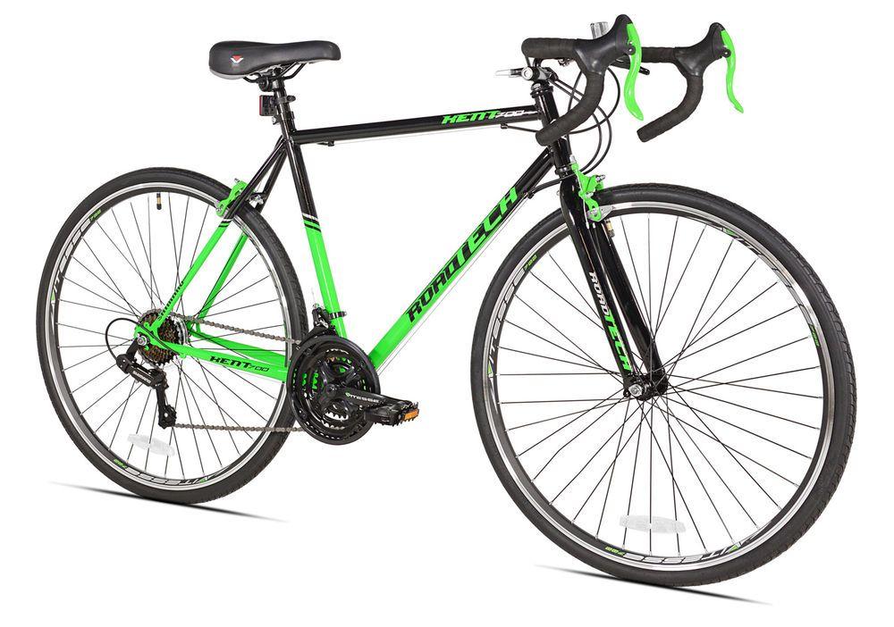 Kent Road Bike 22 5 Men S Green Black Aluminum Frame Sport Bicycle Shimano Bike Riding Benefits Bicycle Bike Reviews