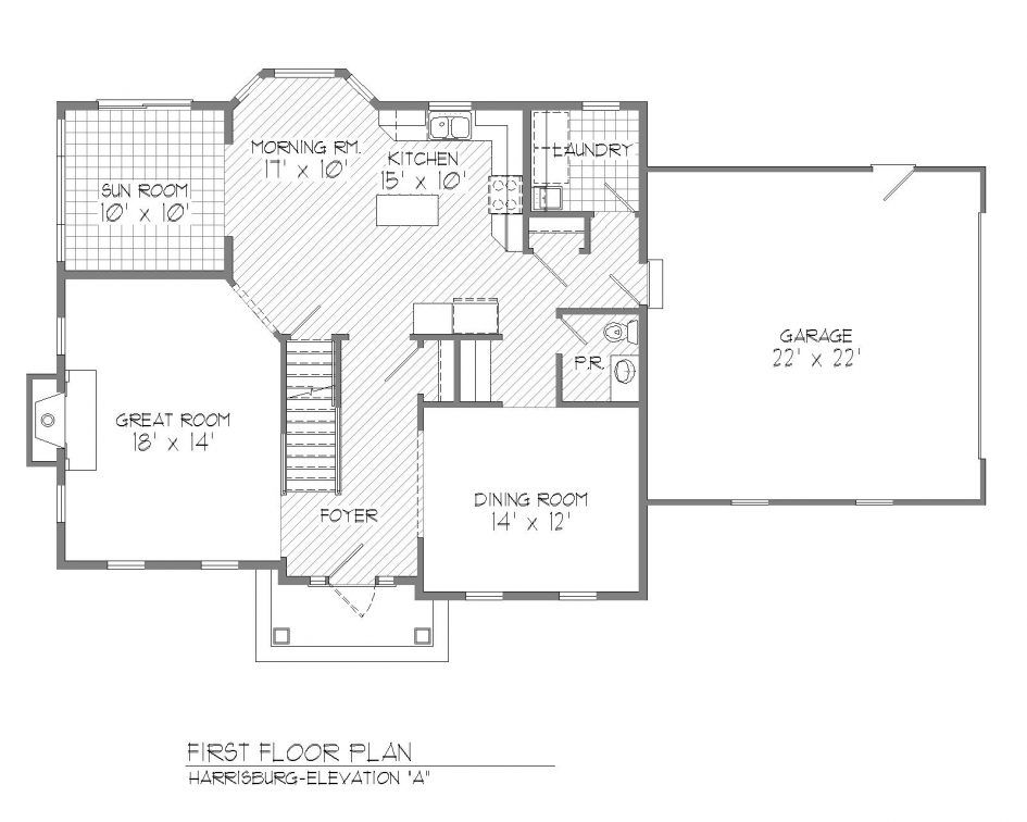 Colonial Floor Plans Open Concept Plan House Floor Plans Colonial House Unique House Plans