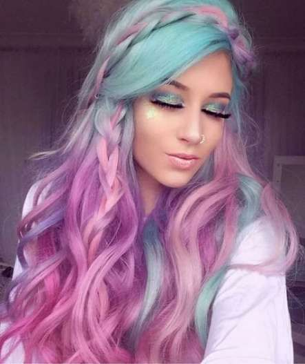 44 Trendy Hair Mermaid Color Ombre -   12 hair Purple iris ideas