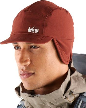 e8ea1dae59717 The REI Co-op insulated waterproof hat seals out showers and features  fleece-lined earwarmer flaps that flip out of the way in less chilly  weather.