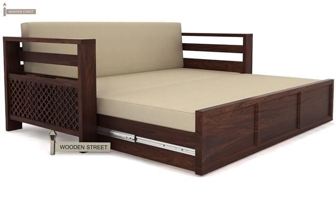 Vigo Sofa Bed Honey Finish