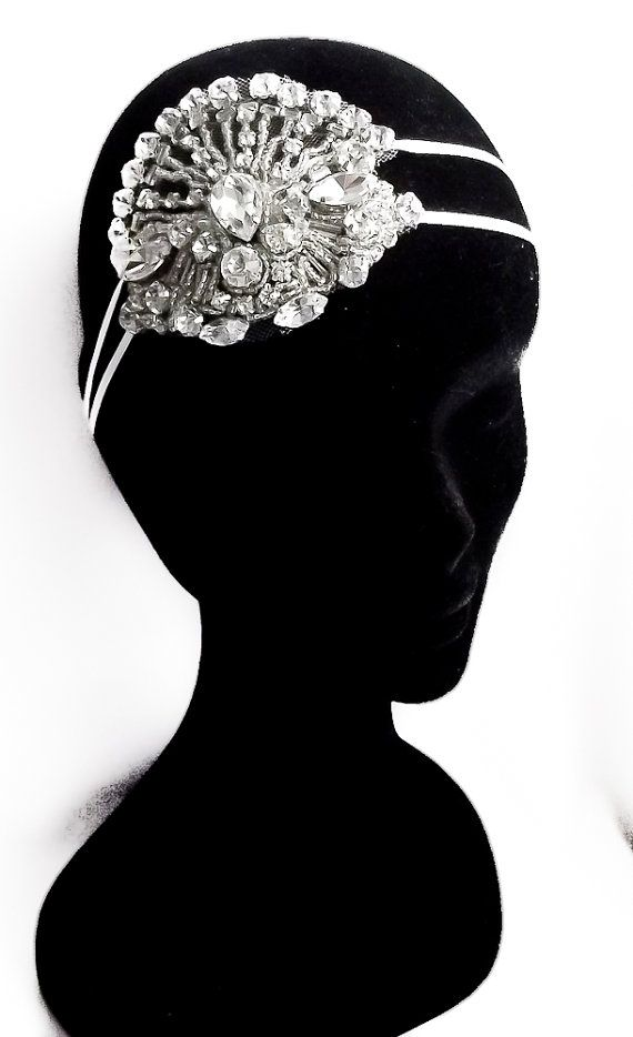 Liberty Art Deco Crystal Headpiece. by WillowMoone on Etsy, $280.00