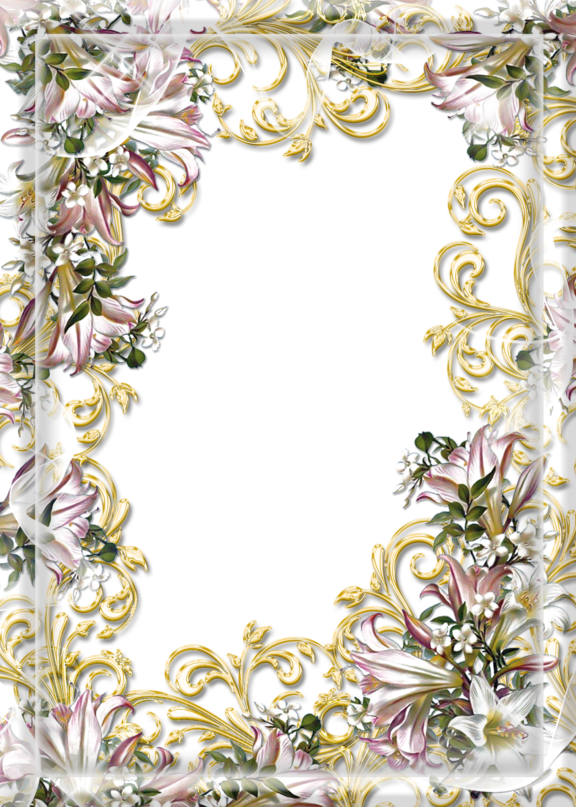 Transparent PNG Photo Frame with Flowers Flower frame