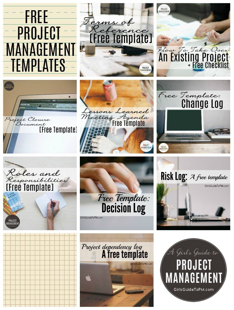 10 Free Project Management Templates • Girl\'s Guide to Project ...
