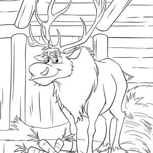 frozen coloring pages baby sven and kristoff Jason Aldean Buck ...